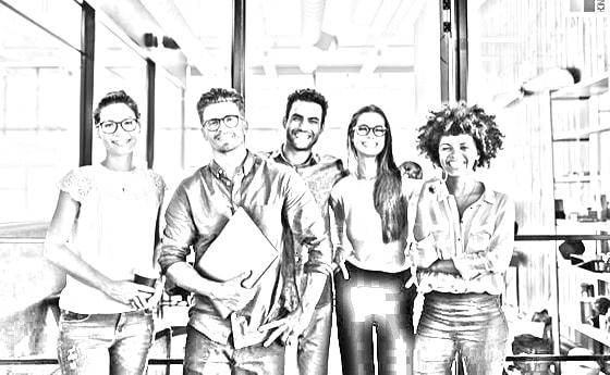 diverse group of team members smiling