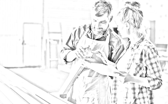 man and woman looking over paperwork
