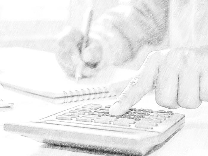 person-using-calculator